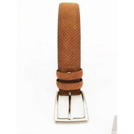 Cintura in pelle e camoscio con texture INTARSI
