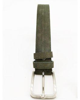 Cintura in pelle e camoscio INTARSI