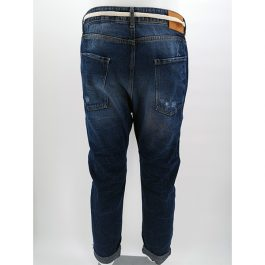 Jeans effetto strappato con stampa DUST